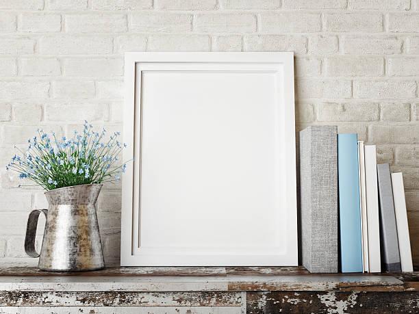 3 d abbildung von frame, hipster-konzept - holzfiguren stock-fotos und bilder