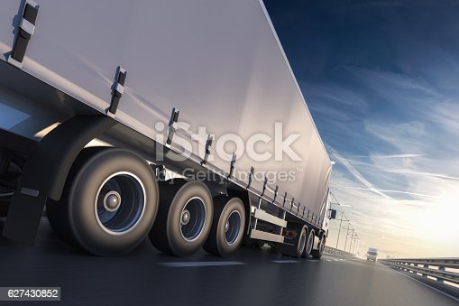 3D rendering of generic transportation concept at dawn