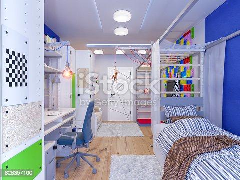 istock rendering of interior design children's room 628357100