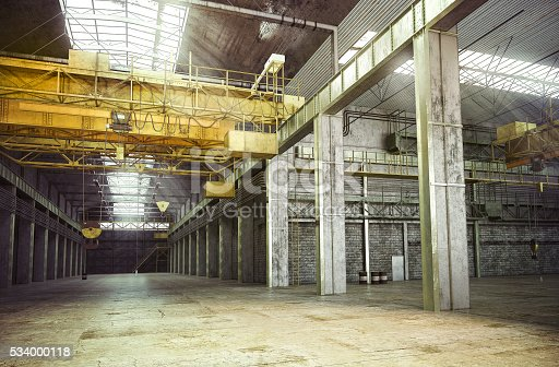 3D rendering of Interior of a Abandoned Factory