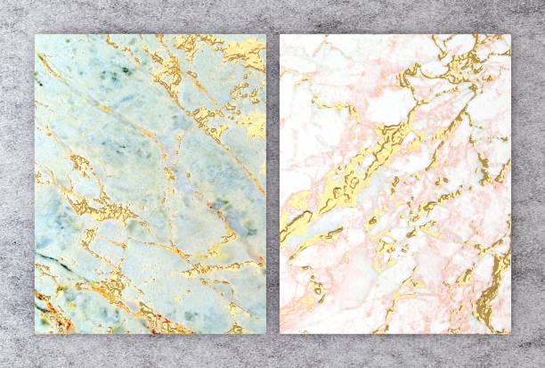 3d-rendering des natürlichen marmors mit goldfolie textur für hochzeit und einladung grußkarte oder ihr projekt innenarchitektur dekorfliese, hochwertige nahtlose realistische textur hintergrund. - kunst 1. klasse stock-fotos und bilder
