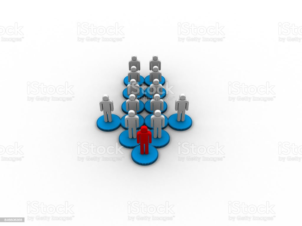 3D Rendering of Team leader to success stock photo