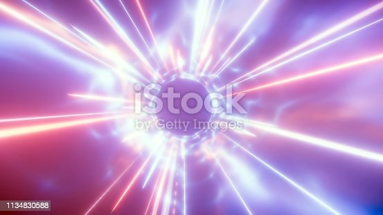 155133009 istock photo 3D rendering of traveling in space and time at the speed of light 1134830588