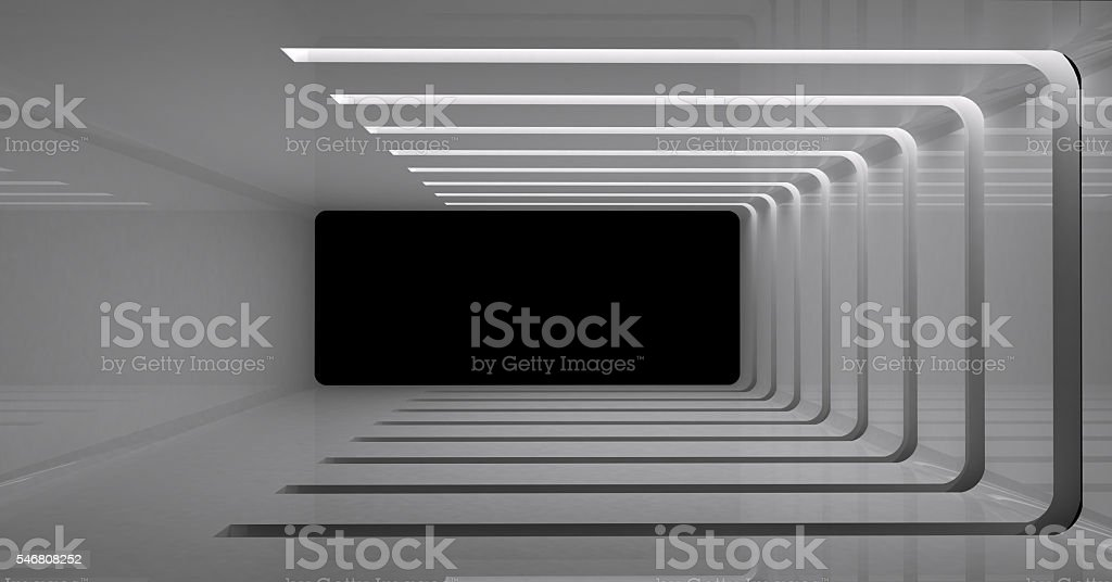 3D rendering of wall light stock photo