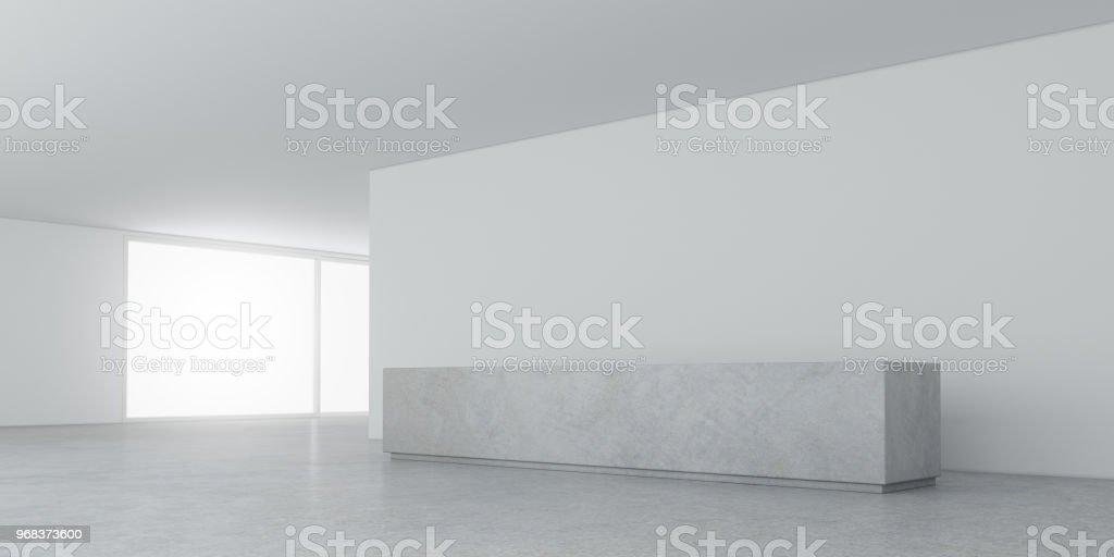 Rendu 3D De Lu0027espace De La Chambre Blanche Avec éclairage Intérieur,  éclairage Et