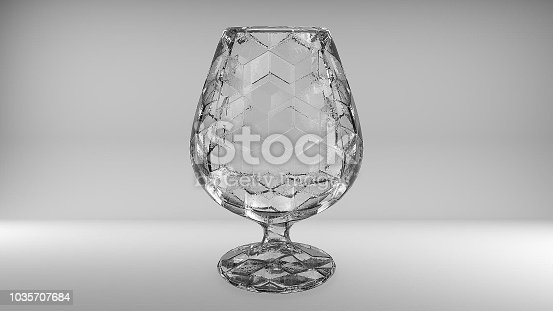 istock 3D rendering of wine glasses 1035707684