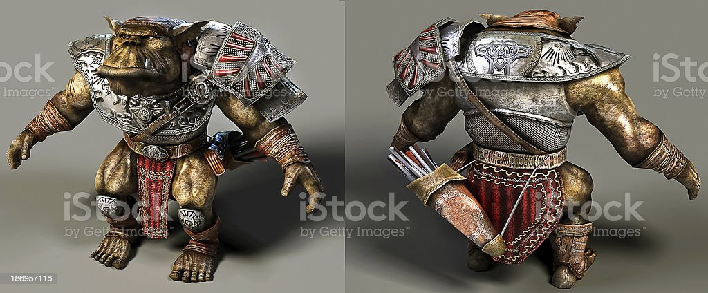 3D rendering Orc stock photo