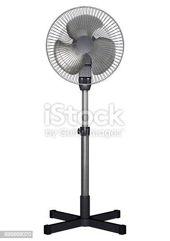 898247654 istock photo 3D Rendering Pedestal Fan on White 699869020
