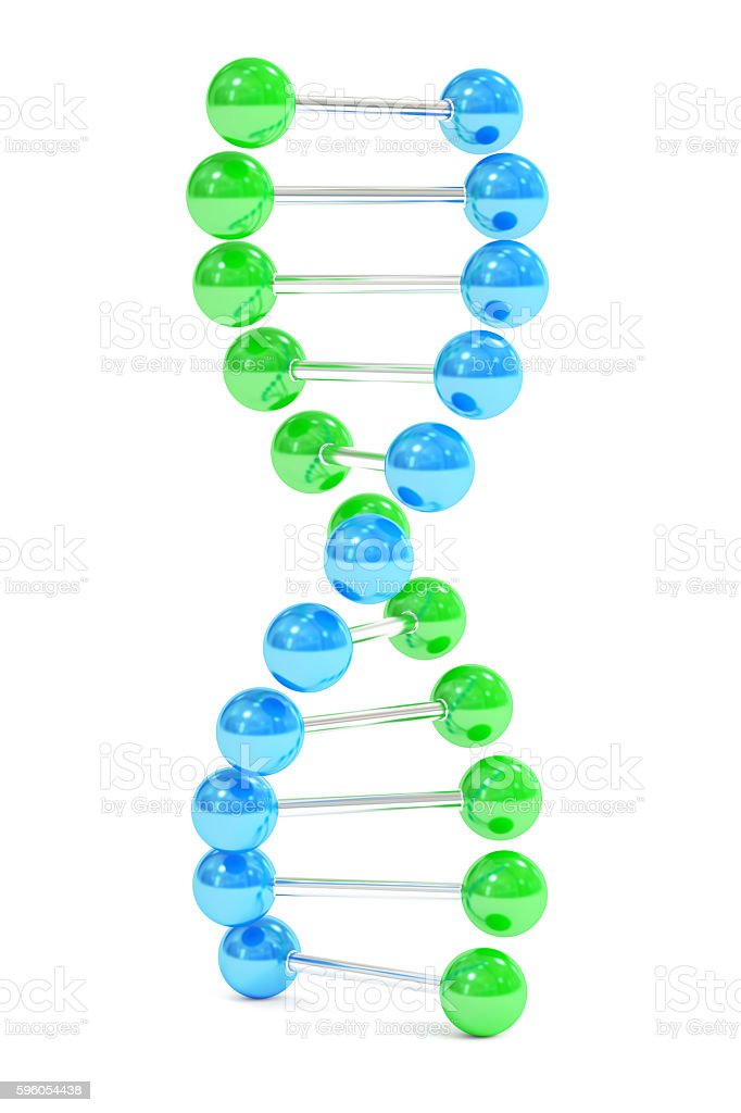 DNA, 3D rendering royalty-free stock photo