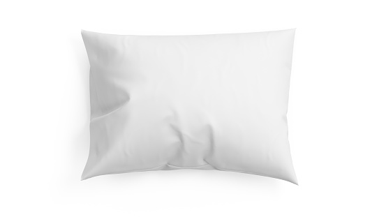 3D rendering pillow isolated on white background.