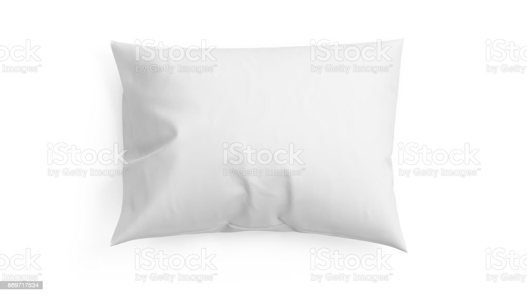 3D rendering pillow isolated on white background stock photo