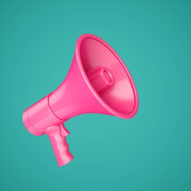 3D Rendering Pink Megaphone isoliert auf Hintergrund – Foto