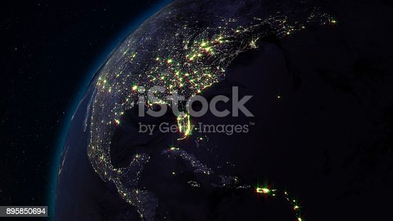 istock 3D rendering planet Earth from space against the background of the star sky 895850694