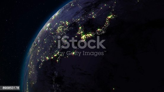 istock 3D rendering planet Earth from space against the background of the star sky 895853178