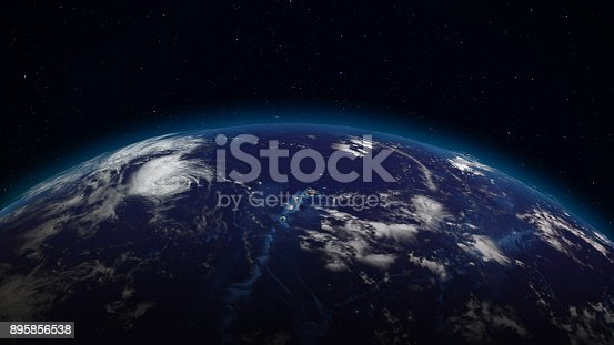 istock 3D rendering planet Earth from space against the background of the star sky 895856538