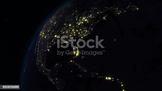 istock 3D rendering planet Earth from space against the background of the star sky 895856686
