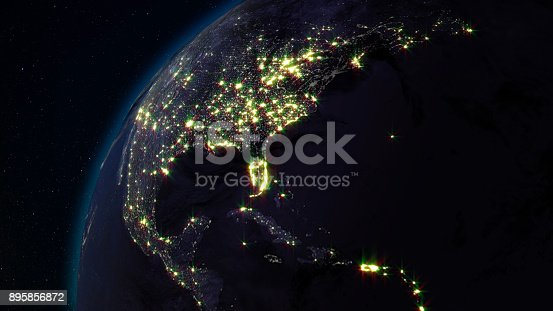istock 3D rendering planet Earth from space against the background of the star sky 895856872