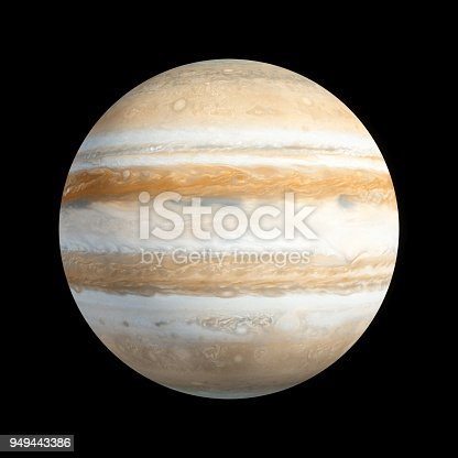 istock 3D Rendering Planet Jupiter isolated on black 949443386