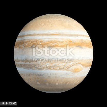 istock 3D Rendering Planet Jupiter isolated on black 949443402