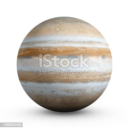 istock 3D Rendering Planet Jupiter isolated on white 1058353452