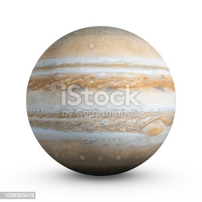 istock 3D Rendering Planet Jupiter isolated on white 1058353478