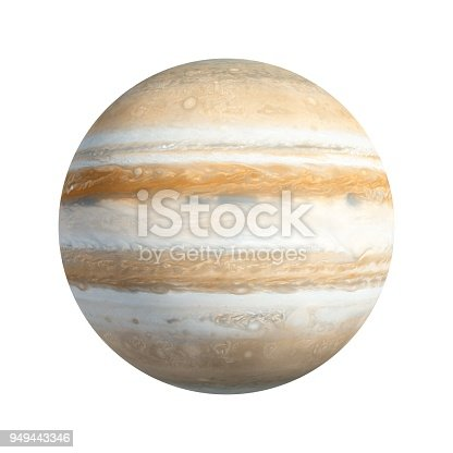 istock 3D Rendering Planet Jupiter isolated on white 949443346