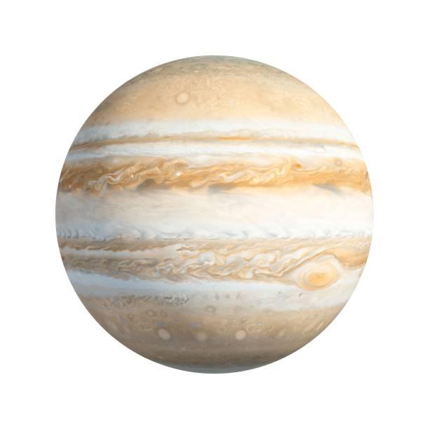 3D Rendering Planeten Jupiter isoliert auf weiss – Foto