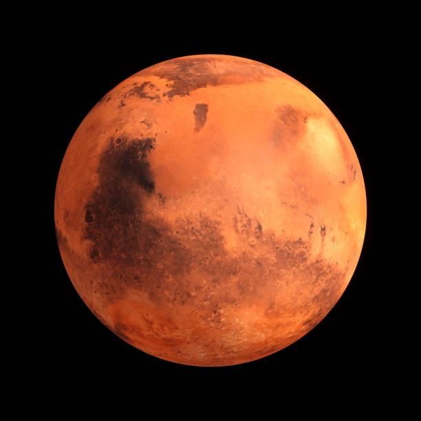 3D Rendering Planeten Mars isoliert auf schwarz – Foto