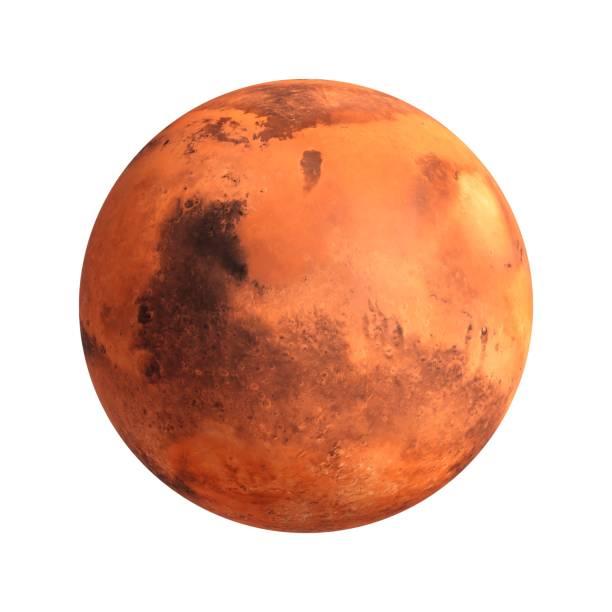 3D Rendering Planeten Mars isoliert auf weiss – Foto