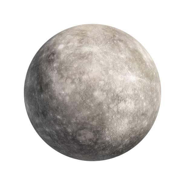3D Rendering Planeten Merkur isoliert auf weiss – Foto