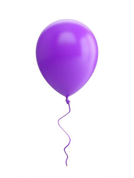 3D-Rendering lila Ballon isoliert auf weißem Hintergrund – Foto