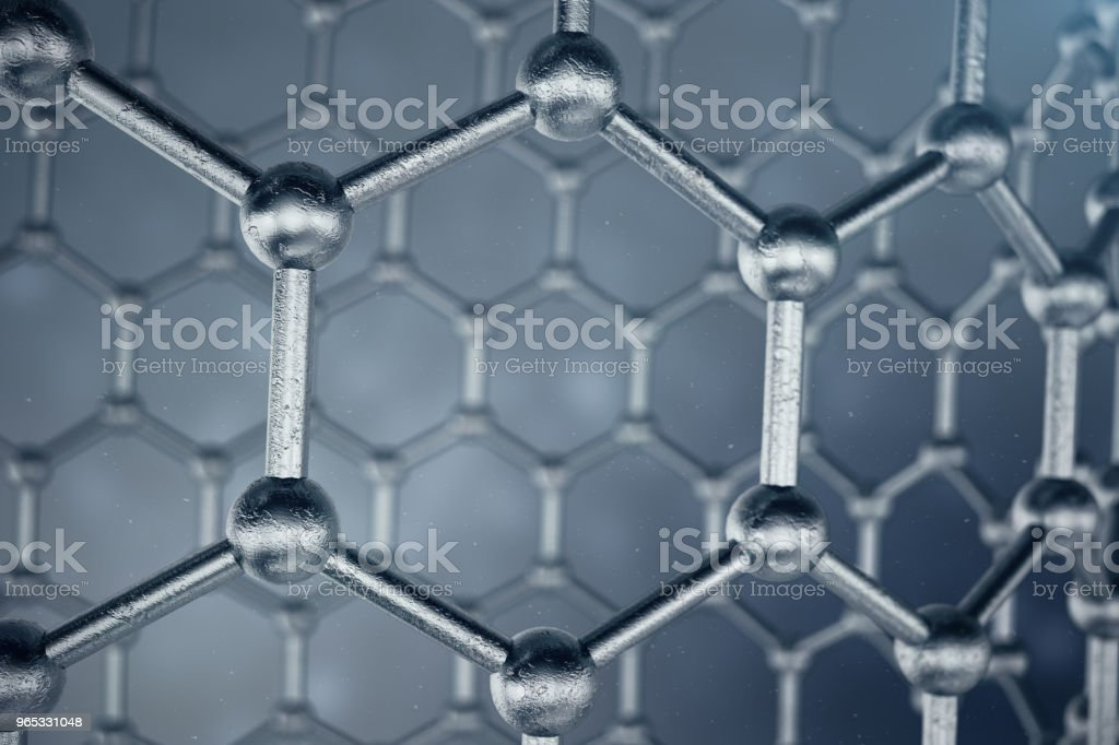3D rendering structure of the graphene tube, abstract nanotechnology hexagonal geometric form close-up. Graphene atomic structure concept, carbon structure. zbiór zdjęć royalty-free