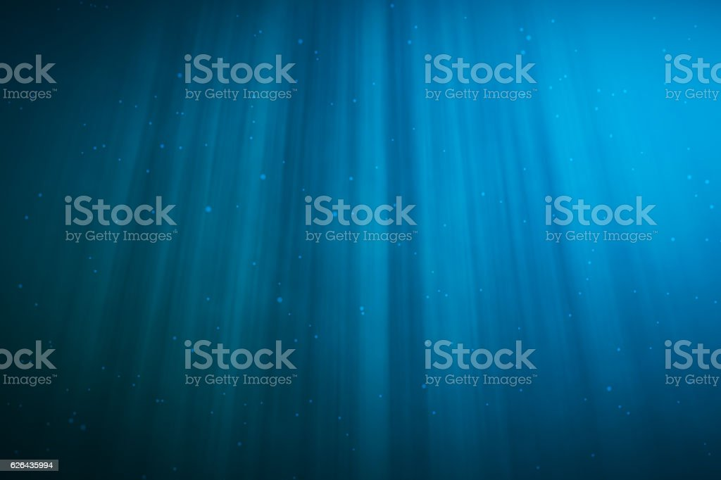 rendering underwater with sunrays and in deep tropical sea. stock photo