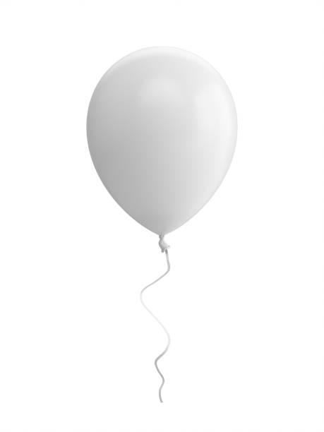 3D-Rendering weißen Ballon isoliert auf weißem Hintergrund – Foto
