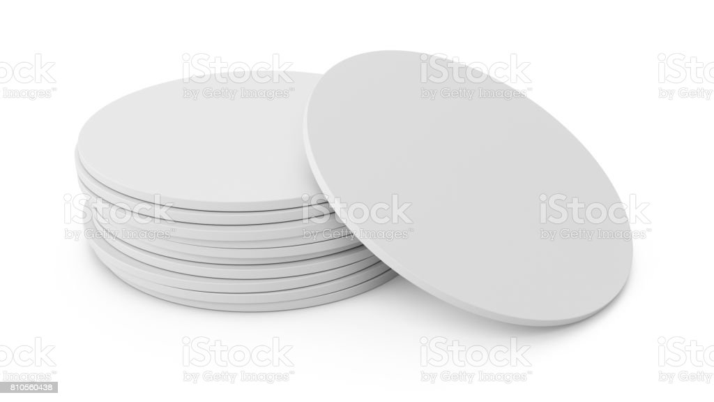 3D-Rendering weißen Bierdeckel isoliert auf weißem Hintergrund – Foto
