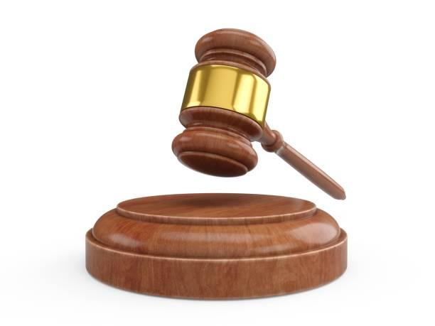 3d 렌더링 나무 망치, 판사 망치 - 나무망치 뉴스 사진 이미지