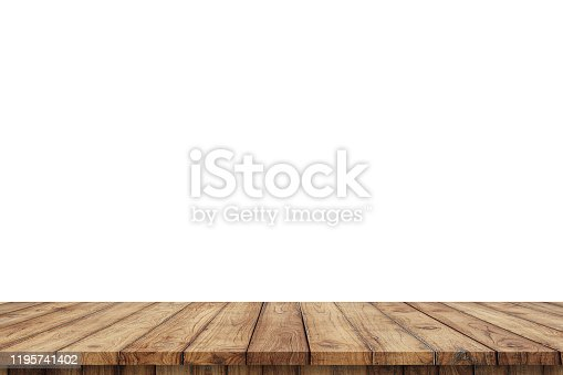 3D rendering,wooden top table on isolated white blackgroud