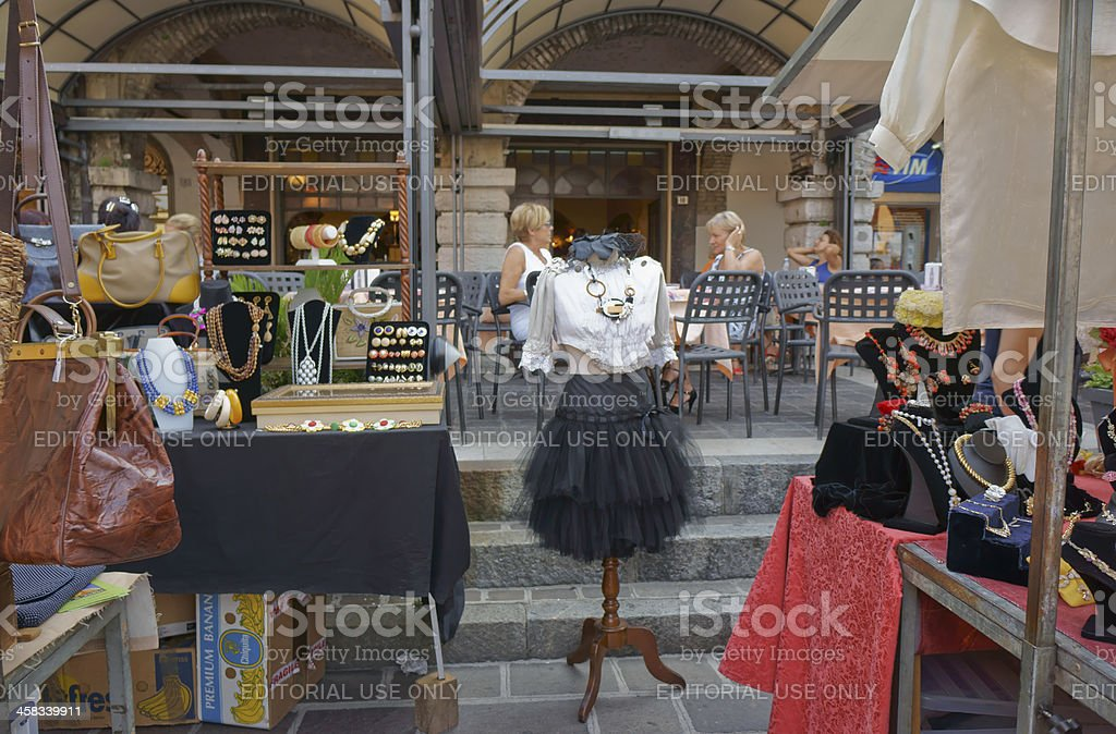 Rendez-vous at Desenzano vintage market royalty-free stock photo