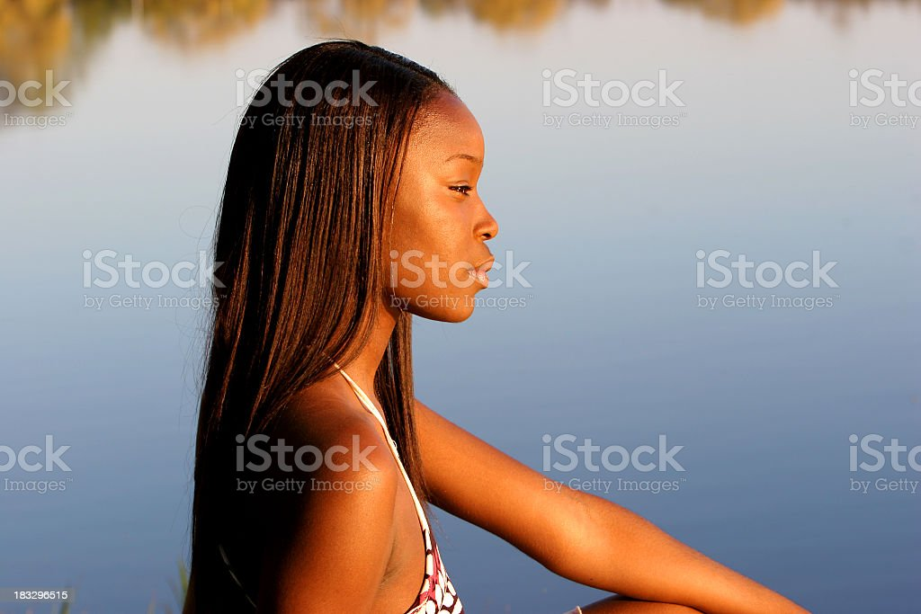 Renee by the lake royalty-free stock photo
