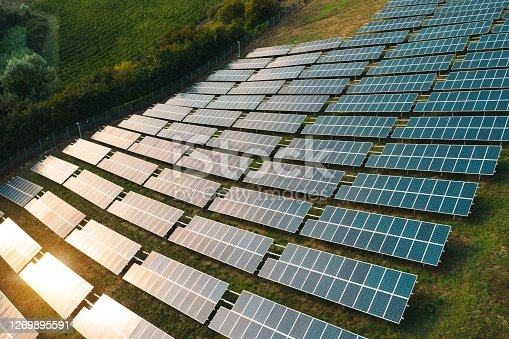 Renewable energies fields seen from above