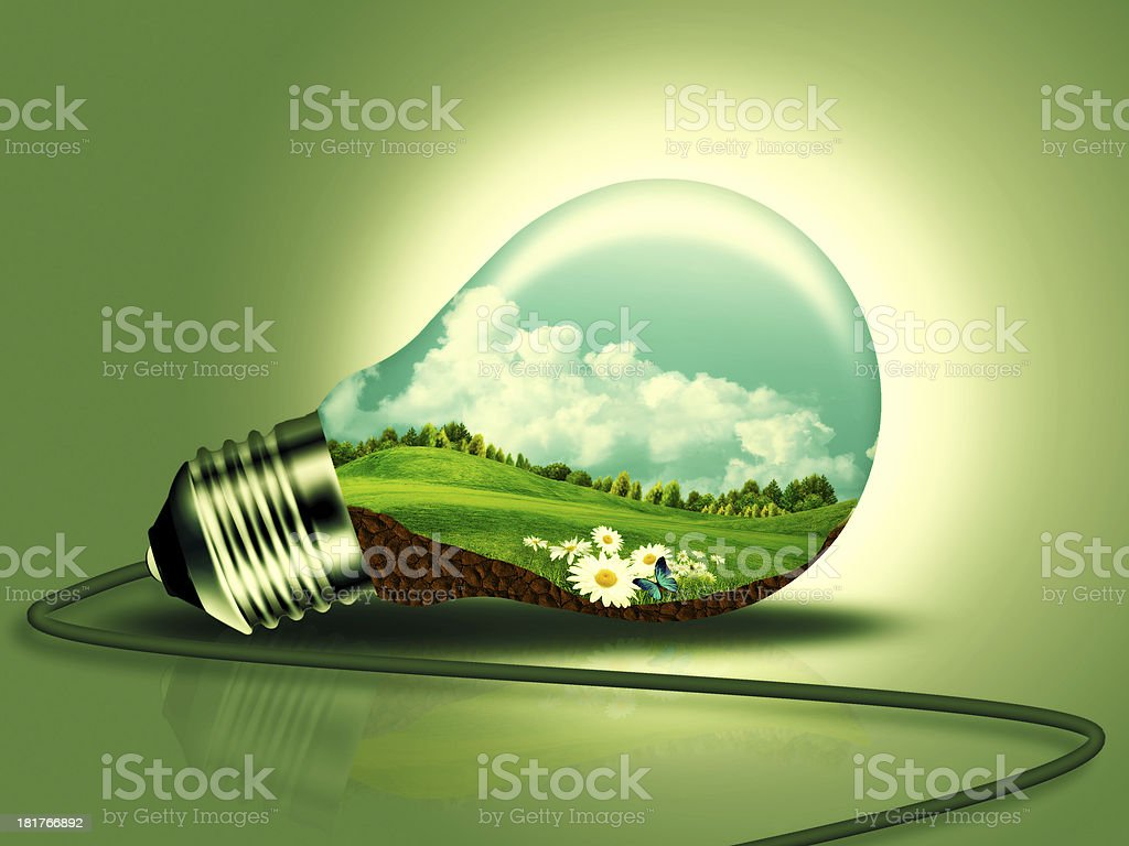 Renewable energy concept for your design royalty-free stock photo