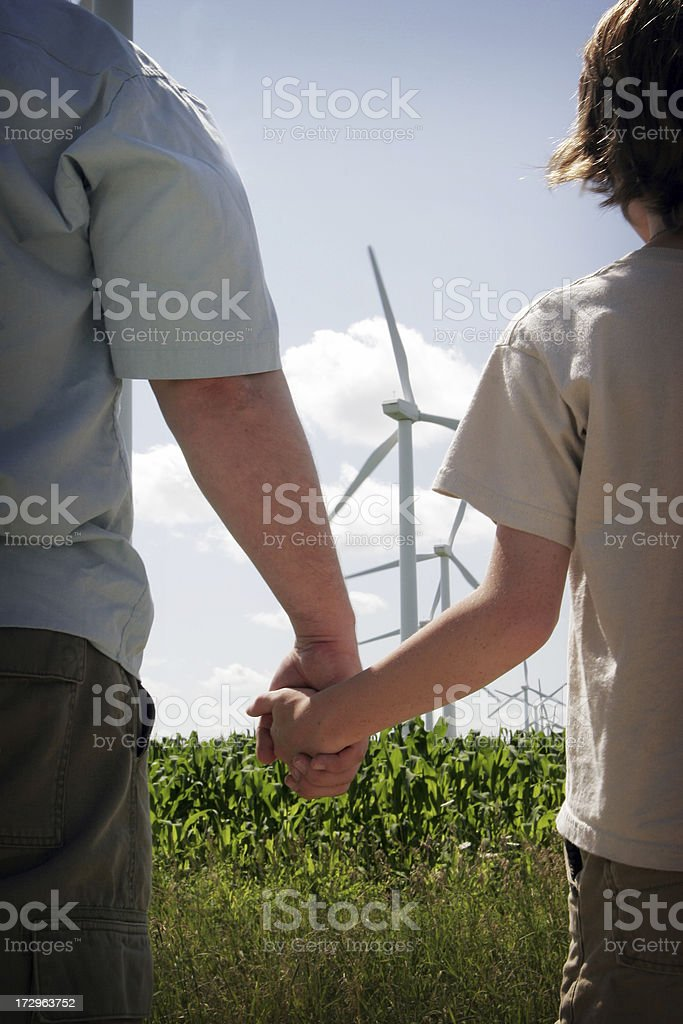 Renewable Energy Generations royalty-free stock photo