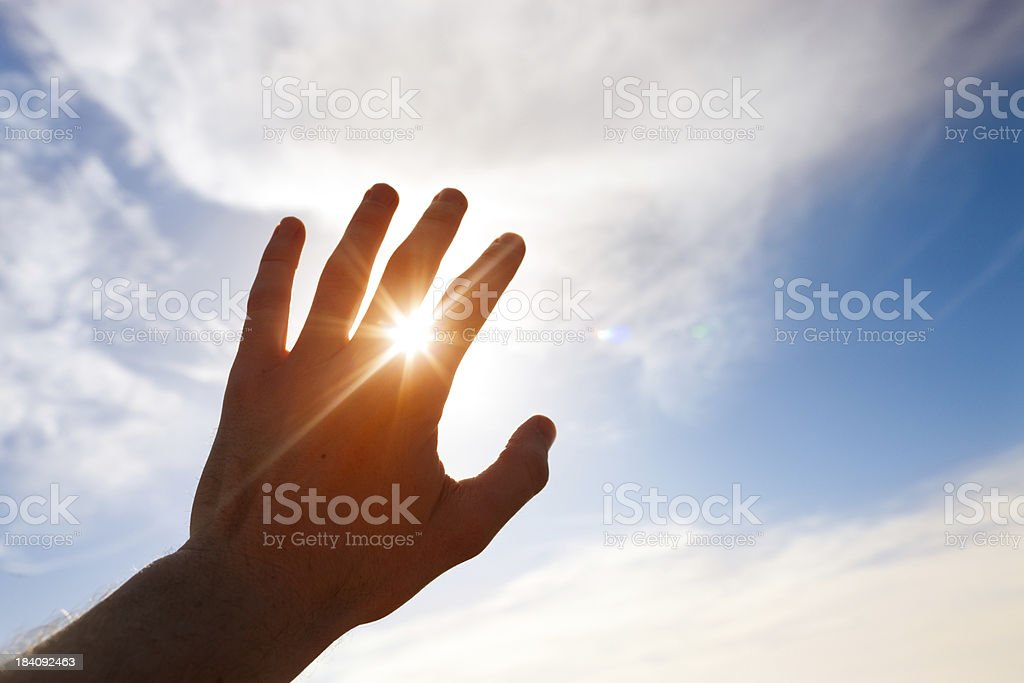 Renewable energy of the sun stock photo