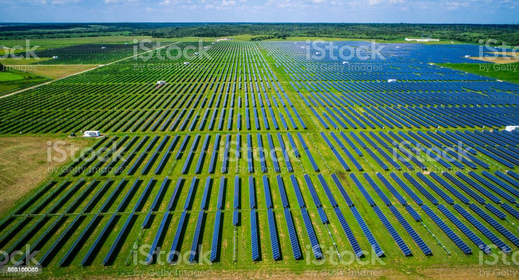 Renewable Energy Plants stock photo