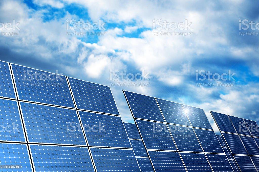 Renewable Energy - Solar Panels (XXXL) royalty-free stock photo