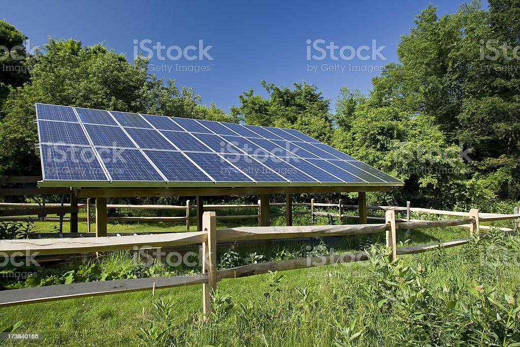 Renewable energy solar panels royalty-free stock photo