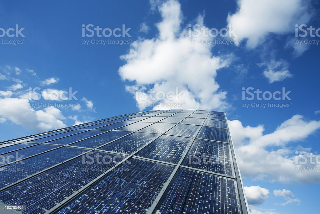 Renewable Energy Solar System on Roof royalty-free stock photo