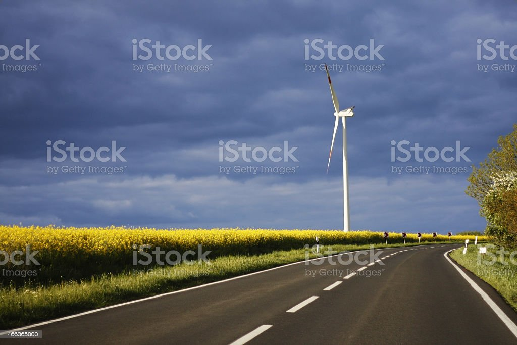 Renewable energy source. Energy security and road traffic safety royalty-free stock photo