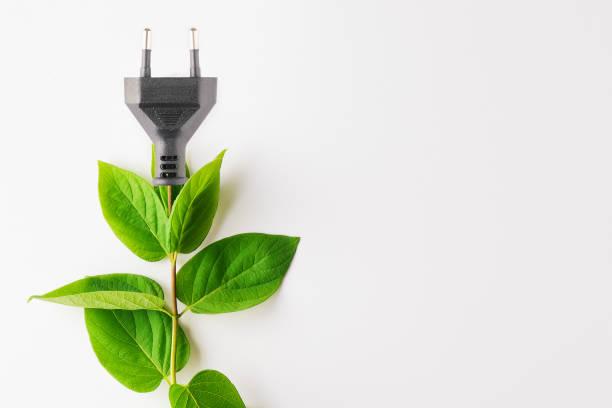 Renewable energy, sustainability, ecology concept. stock photo