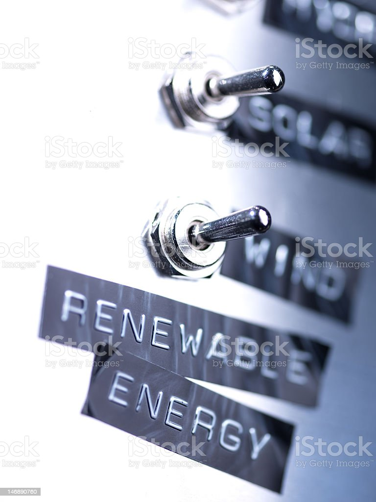 Renewable Energy Switch stock photo